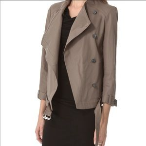 Helmut Lang Surge Cropped Trench Jacket